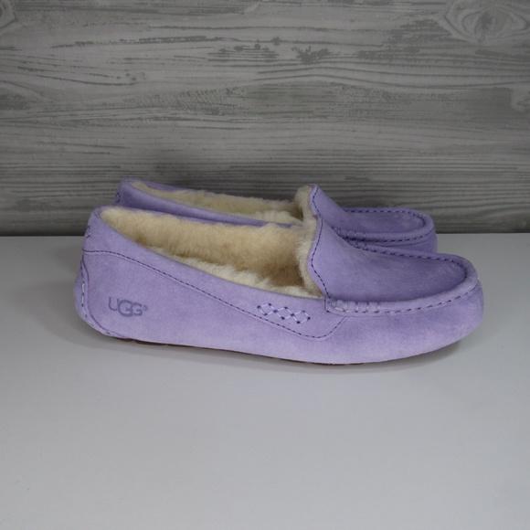 b85b27a2b65 UGG Women's Ansley Purple Zen Moccasin Slippers NWT